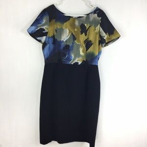 Alex Marie Dress Abstract Watercolor Floral
